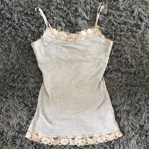Grey Lace Camisole